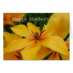 Yellow Flower Mothers Day Card