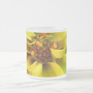 Yellow Flower 10 Oz Frosted Glass Coffee Mug
