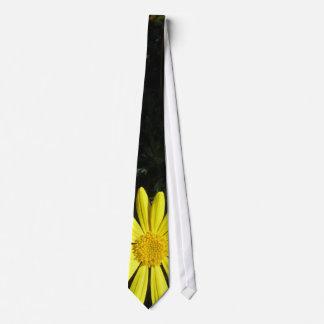 Yellow Flower Neck Tie