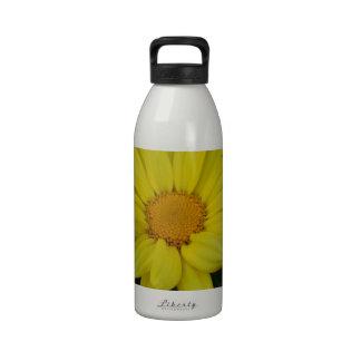 Yellow Flower of Love Reusable Water Bottles