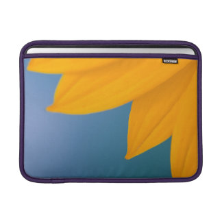 Yellow Flower on Blue background MacBook Sleeve