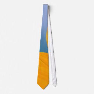 Yellow Flower on Blue background Tie