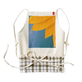 Yellow Flower on Blue background Zazzle HEART Apron