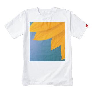 Yellow Flower on Blue background Zazzle HEART T-Shirt