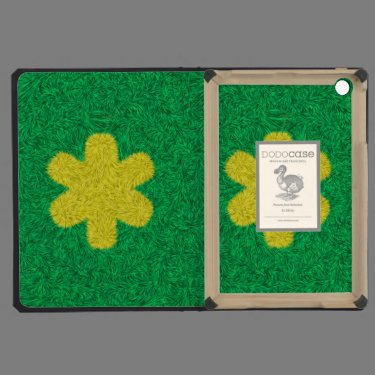 Yellow flower on green background iPad mini retina cases