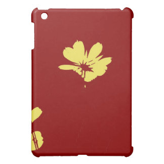 Yellow Flower on Red Background - Fine art Cover For The iPad Mini