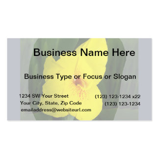 Yellow Flower Orange square Business Card
