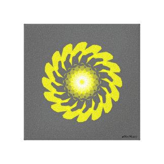 Yellow Flower Original Canvas Print