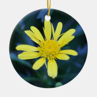 yellow flower ornaments