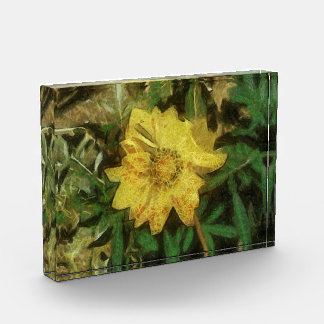 Yellow flower painting acrylic award