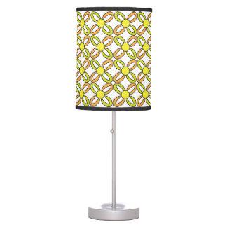yellow flower pattern desk lamps. Black Bedroom Furniture Sets. Home Design Ideas