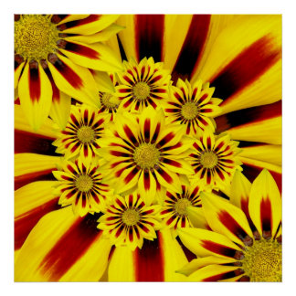 Yellow Flower Pattern Posters