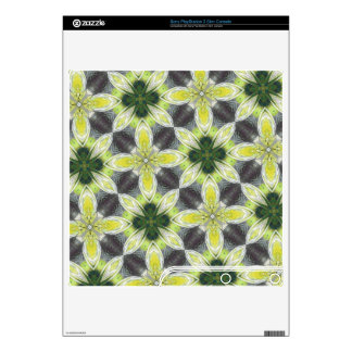 Yellow Flower Pattern PS3 Slim Console Skins