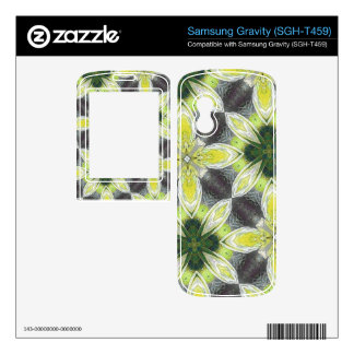 Yellow Flower Pattern Decal For Samsung Gravity