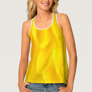 Yellow Flower Petals Women's Tank Top