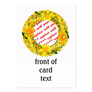 Yellow Flower Photo Frame Large Business Cards (Pack Of 100)