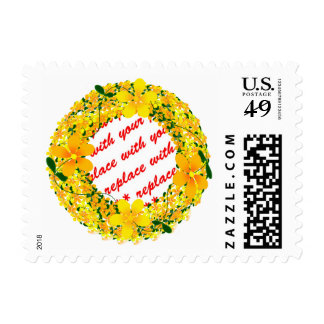 Yellow Flower Photo Frame Stamp