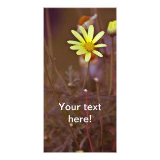 Yellow flower custom photo card