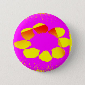 yellow flower pinback button