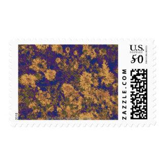 Yellow flower postage