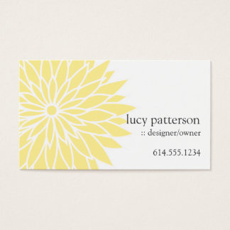Yellow Flower Power Chic Stylish Business Cards