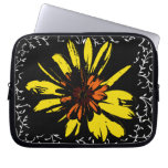 Yellow Flower Power Laptop Sleeves