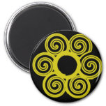 yellow flower refrigerator magnets