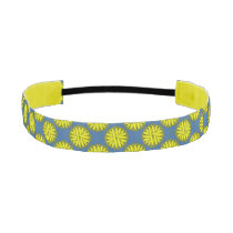 Yellow Flower Ribbon Athletic Headband