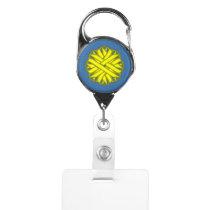 Yellow Flower Ribbon Badge Holder