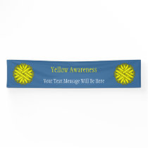Yellow Flower Ribbon Banner
