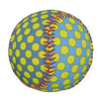 Yellow Flower Ribbon Baseball