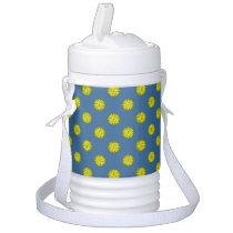 Yellow Flower Ribbon Beverage Cooler