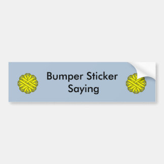Yellow Flower Ribbon Bumper Sticker
