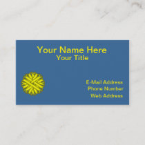 Yellow Flower Ribbon Business Card