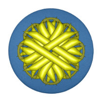 Yellow Flower Ribbon Button Covers