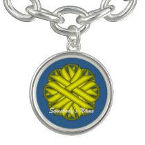 Yellow Flower Ribbon by Kenneth Yoncich Bracelet