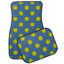 Yellow Flower Ribbon by Kenneth Yoncich Car Mat