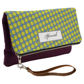 Yellow Flower Ribbon by Kenneth Yoncich Clutch