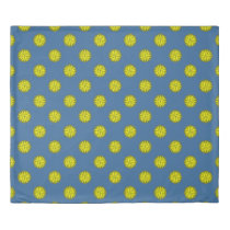 Yellow Flower Ribbon by Kenneth Yoncich Duvet Cover