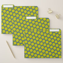 Yellow Flower Ribbon by Kenneth Yoncich File Folder