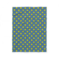 Yellow Flower Ribbon by Kenneth Yoncich Fleece Blanket