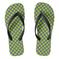 Yellow Flower Ribbon by Kenneth Yoncich Flip Flops