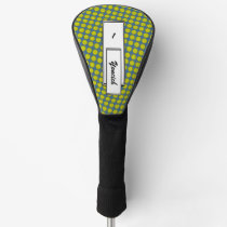 Yellow Flower Ribbon by Kenneth Yoncich Golf Head Cover