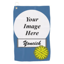 Yellow Flower Ribbon by Kenneth Yoncich Golf Towel