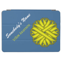 Yellow Flower Ribbon by Kenneth Yoncich iPad Air Cover