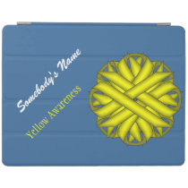 Yellow Flower Ribbon by Kenneth Yoncich iPad Smart Cover