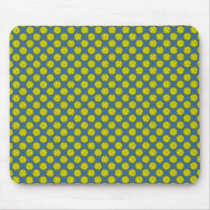 Yellow Flower Ribbon by Kenneth Yoncich Mouse Pad