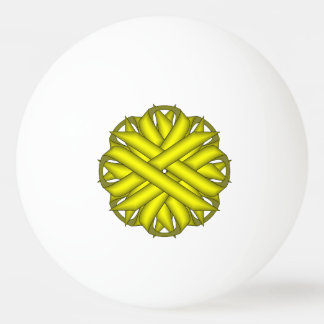 Yellow Flower Ribbon by Kenneth Yoncich Ping-Pong Ball
