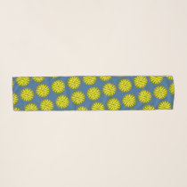 Yellow Flower Ribbon by Kenneth Yoncich Scarf