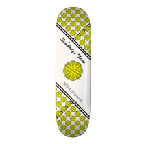 Yellow Flower Ribbon by Kenneth Yoncich Skateboard Deck